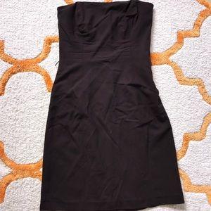 Brown strapless Shoshanna dress